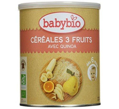 BabyBio Био бебешка каша с киноа, плодове, зърнени храни +6 мес. 220г